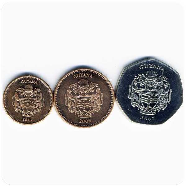 Гайана. Набор из 3 монет код 21001