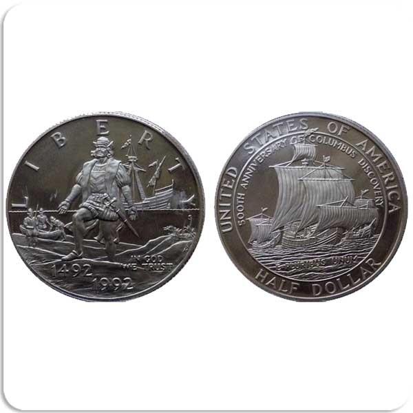 50 центов 1992 500-летие путешествия Колумба