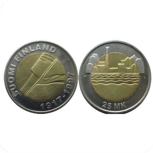 Финляндия 25 марок 1997 80-летие Независимости