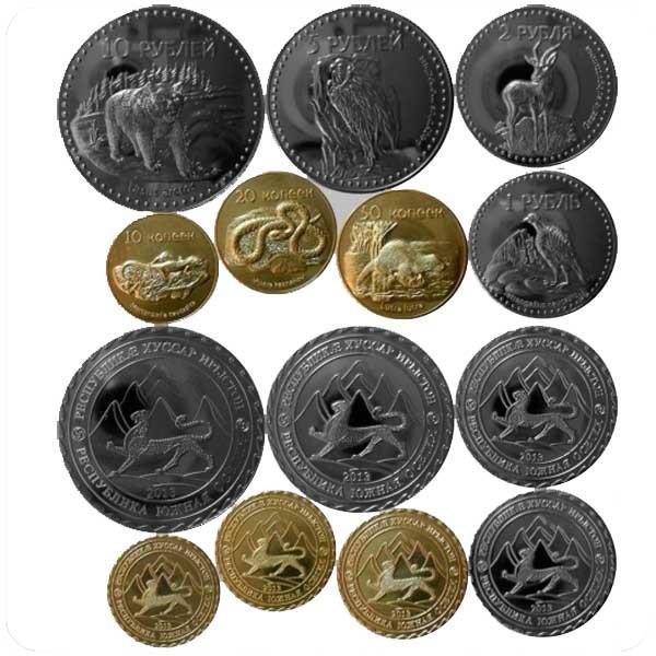 Набор монетовидных жетонов 2013 года Южная Осетия