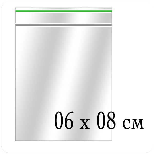 Пакеты Zip-Lock (грипперы) размер 06х08 см - (упаковка)