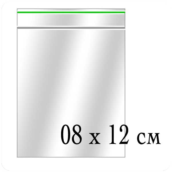 Пакеты Zip-Lock (грипперы) размер 08х12 см - (упаковка)