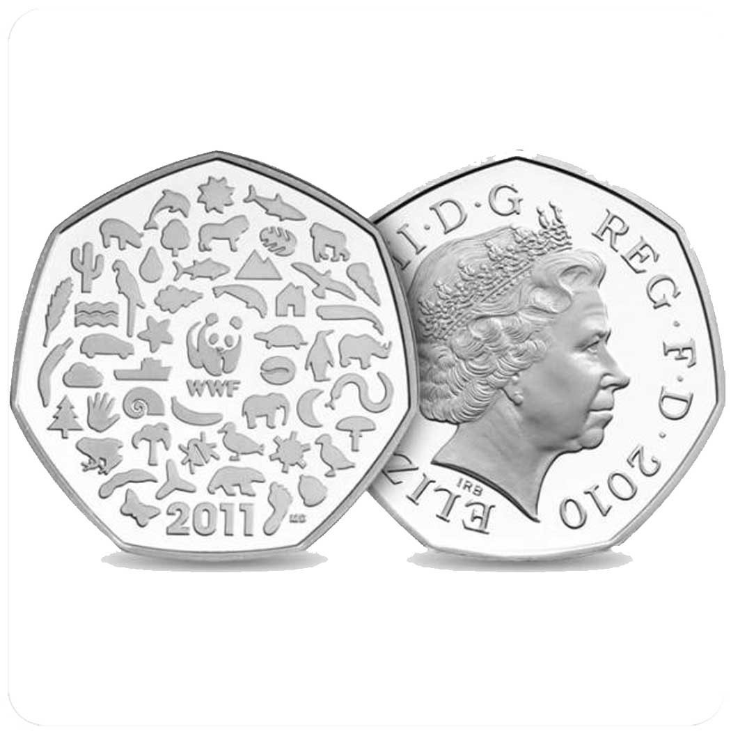 Великобритания 50 пенсов 2011