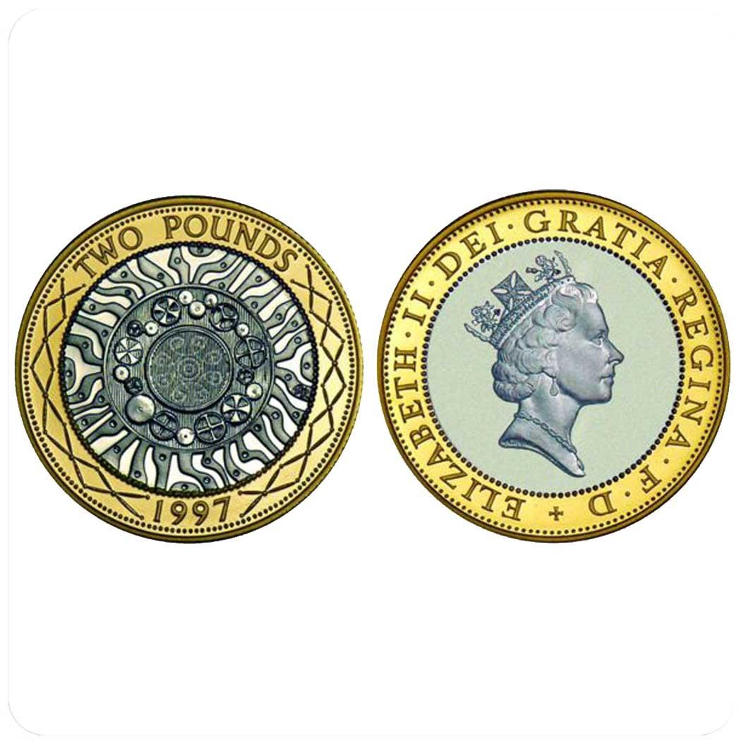 Великобританиия 2 фунта 1997 г Регулярный выпуск