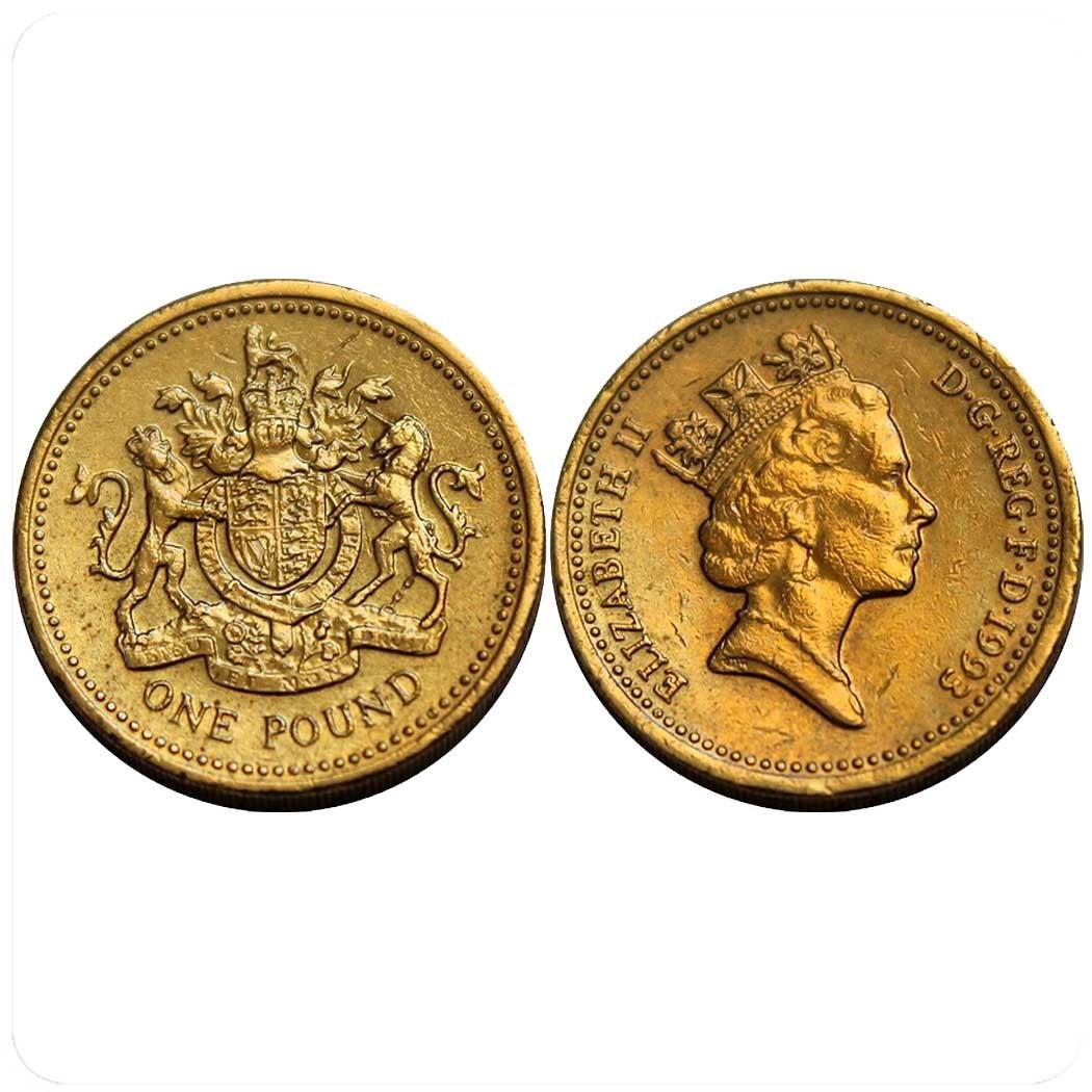 Великобритания 1 фунт 1993 г