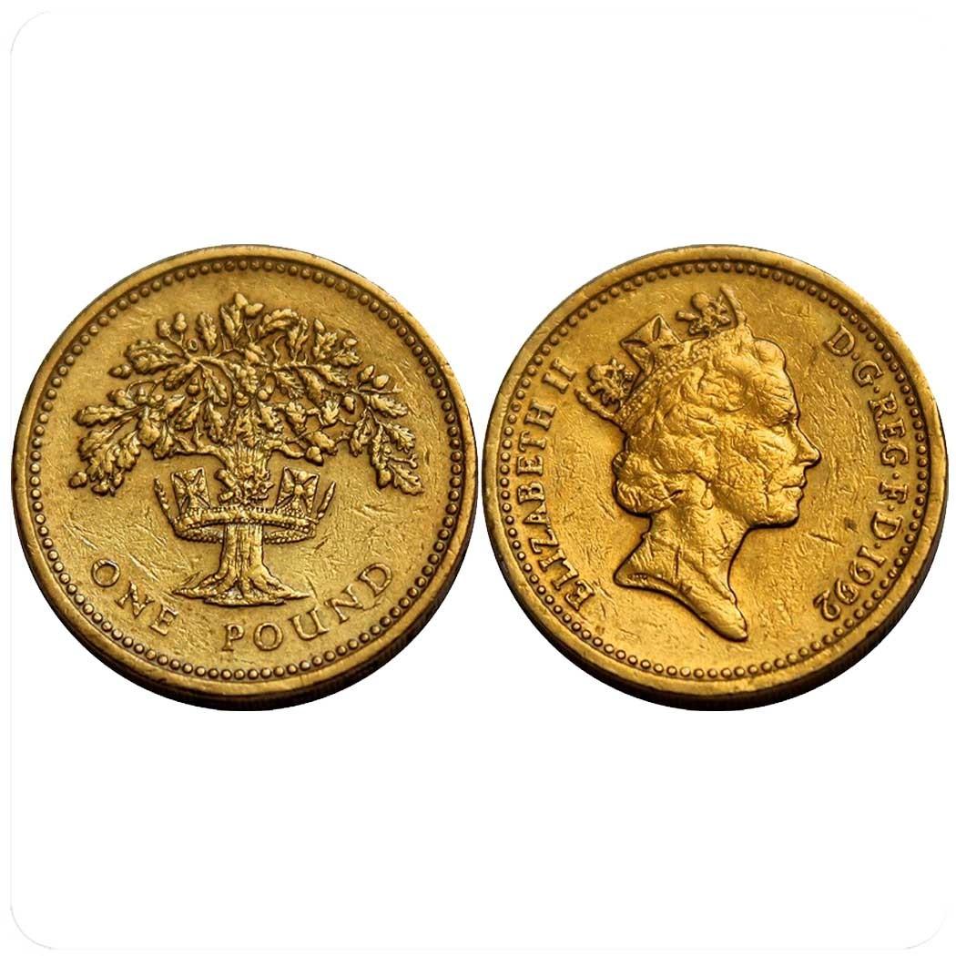 Великобритания 1 фунт 1992 г