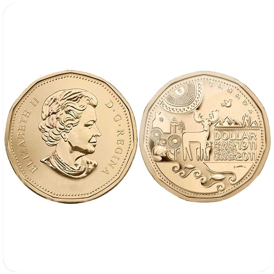 Канада 1 доллар 2011 г 100-летие Первого Национального парка Канады код 20589