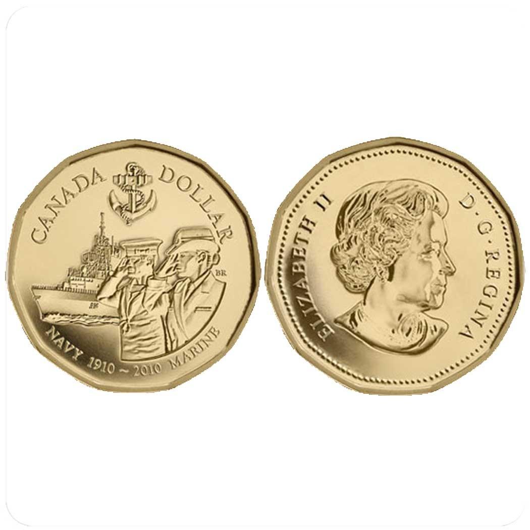 Канада 1 доллар 2010 г 100-летие Военно-Морского Флота