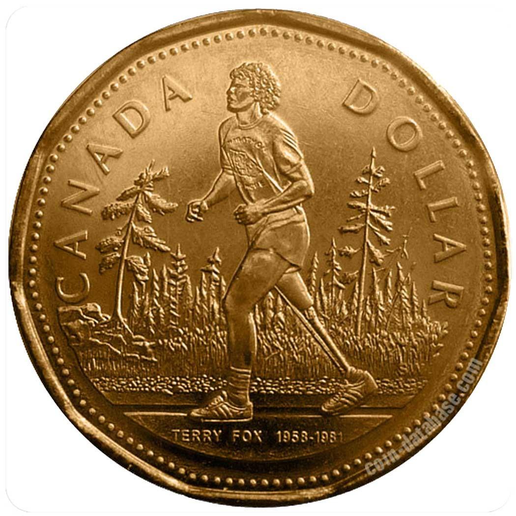 Канада 1 доллар 2005 г Спорт Бегун Терри Фокс код 20593