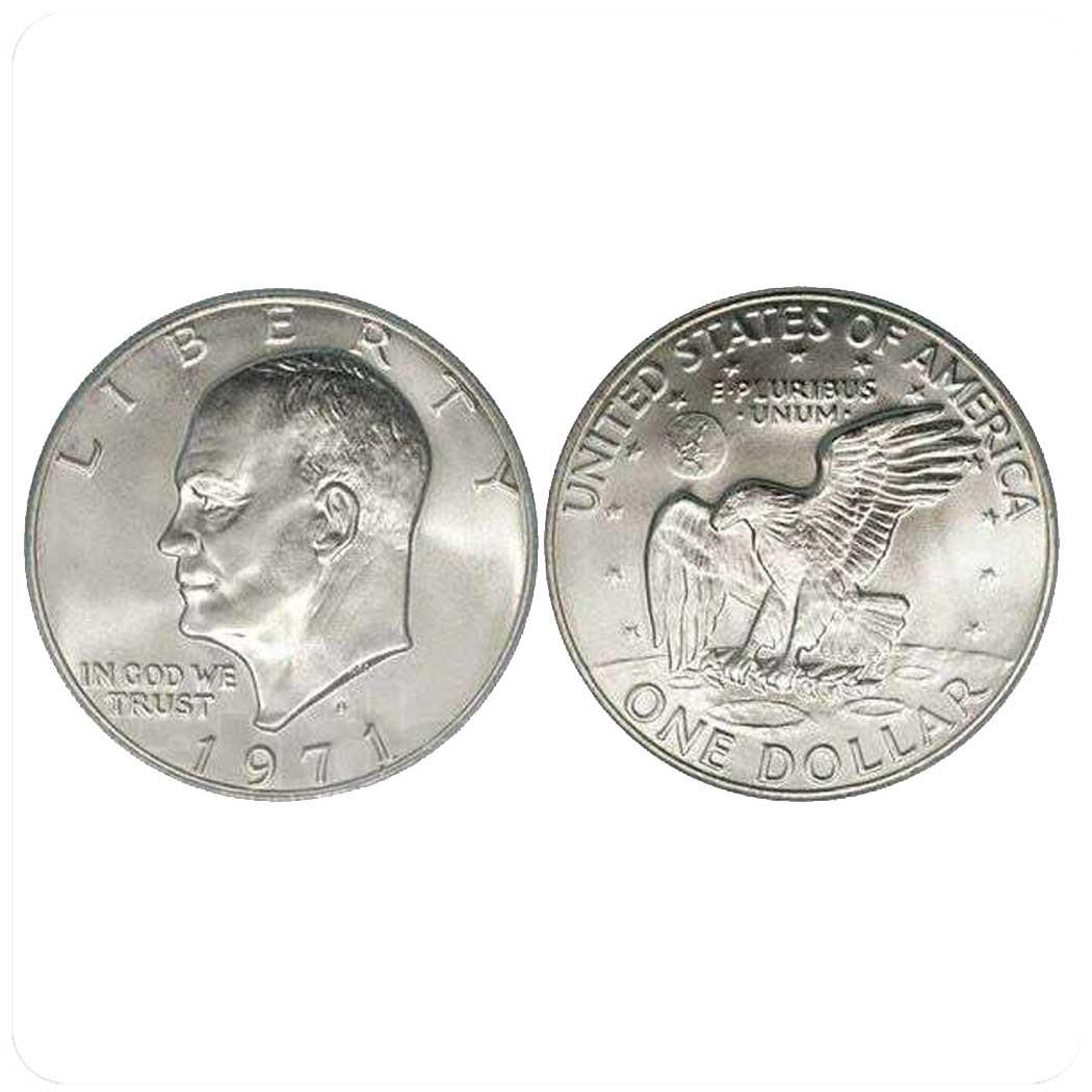 США 1 доллар 1971 года Серебро код 20665