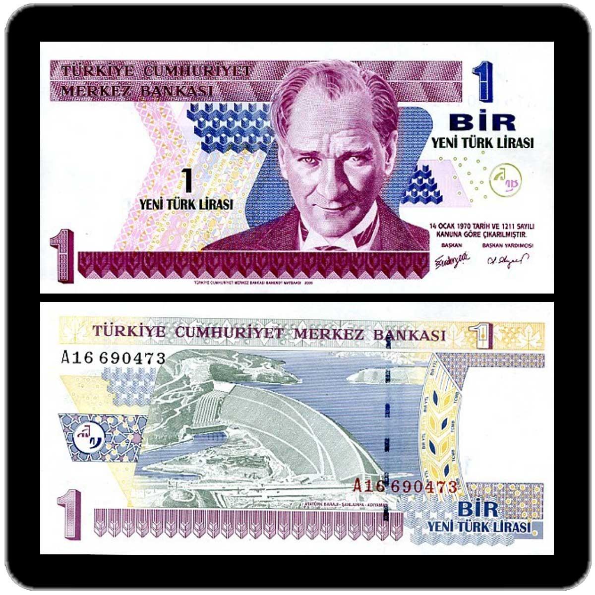 Турция 1 новая лира 2005 года код 0274
