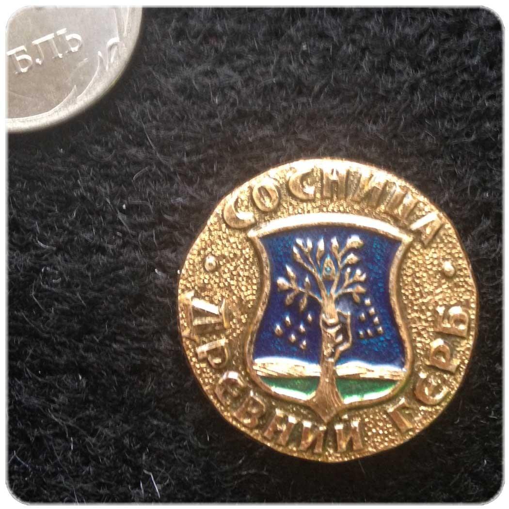 Значок город Сосница серия Древний Герб код 10047