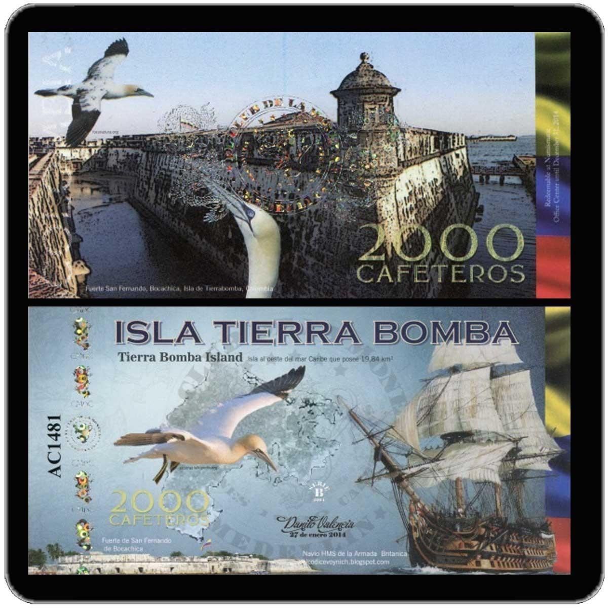Колумбия 2000 кафетерос 2014 года (юбилейная банкнота) код 0323