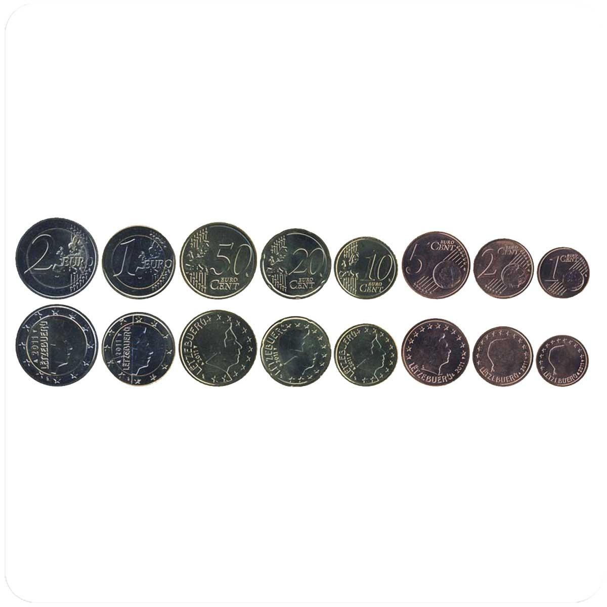 Люксембург годовой набор монет евро 2011 года