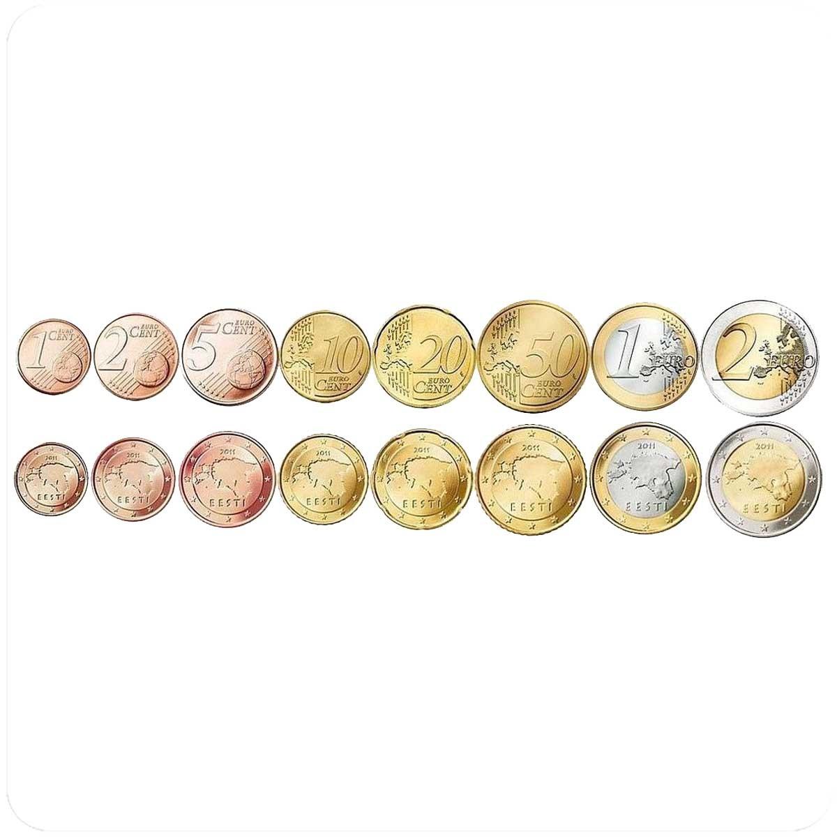 Эстония годовой набор монет евро 2011 года
