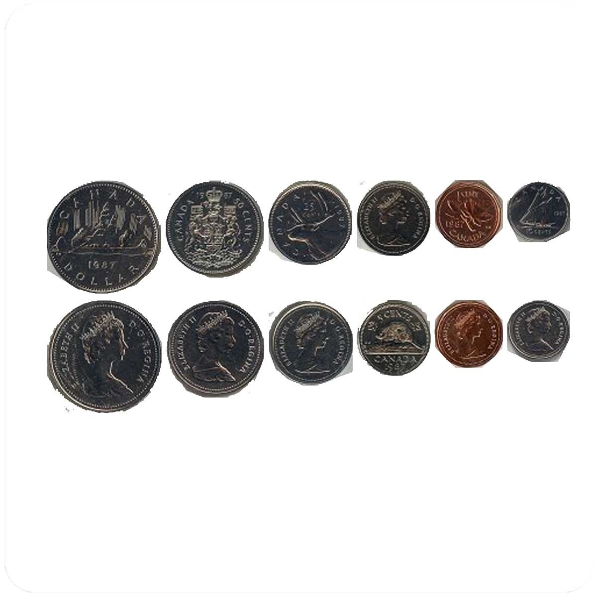 Канада Набор монет 1987 года
