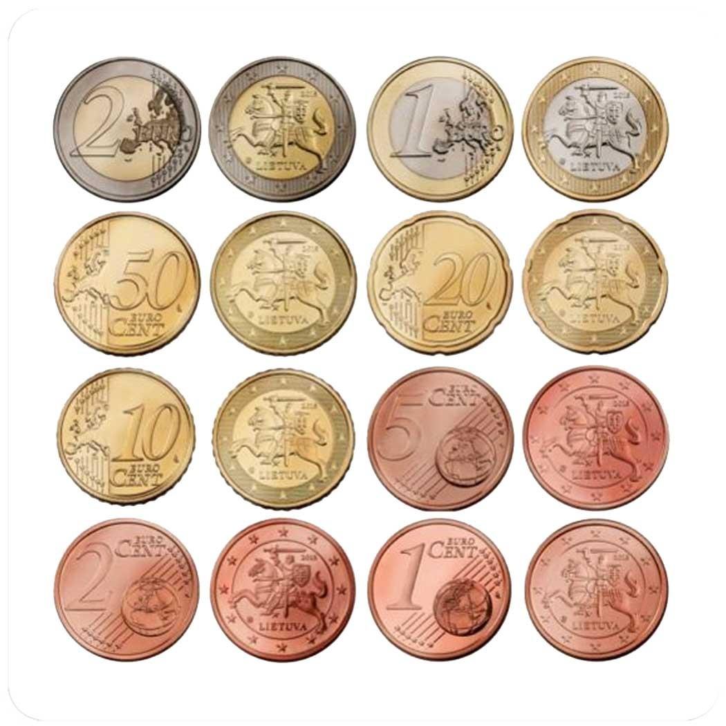 Литва годовой набор монет евро 2015 года