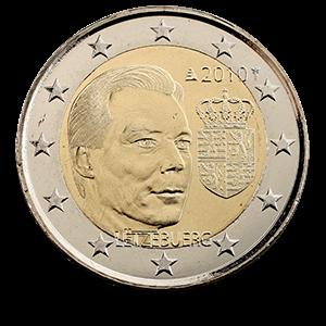 Люксембург 2 евро 2010 Герб Великого герцога Люксембурга код 21336