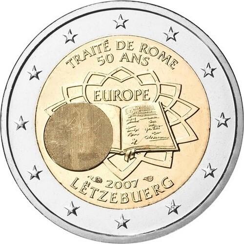 Люксембург 2 евро 2007 года Римский договор код 21346