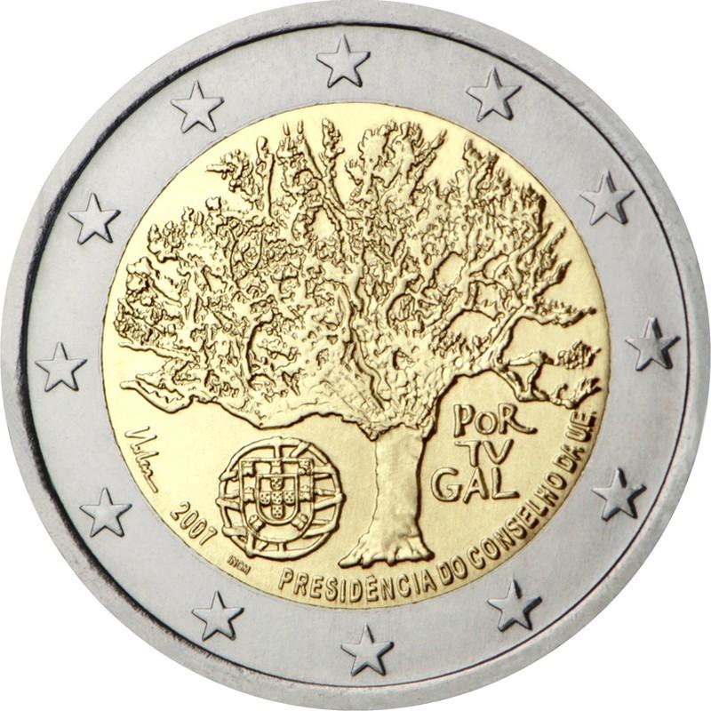 Португалия 2 евро 2007 года Председательство Португалии в Совете Европейского союза код 21350