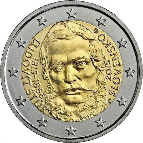 Словакия 2 евро 2015 года 200 лет со дня рождения Людовита Штура код 21368