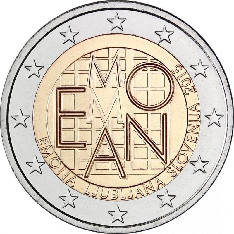 Словения 2 евро 2015 года 2000 лет римскому поселению Эмона код 21373
