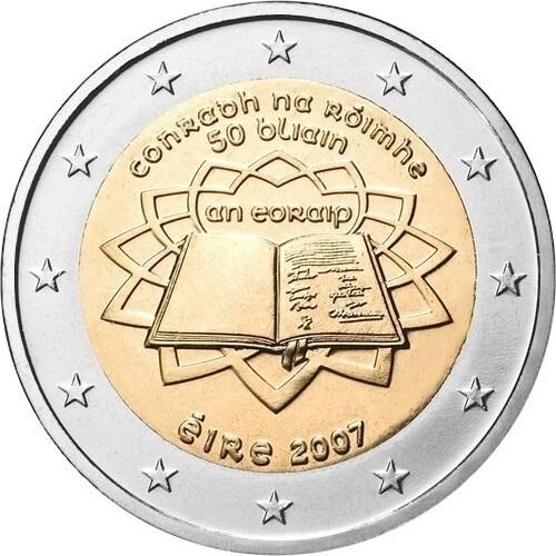 Ирландия 2 евро 2007 года Римский договор код 21408