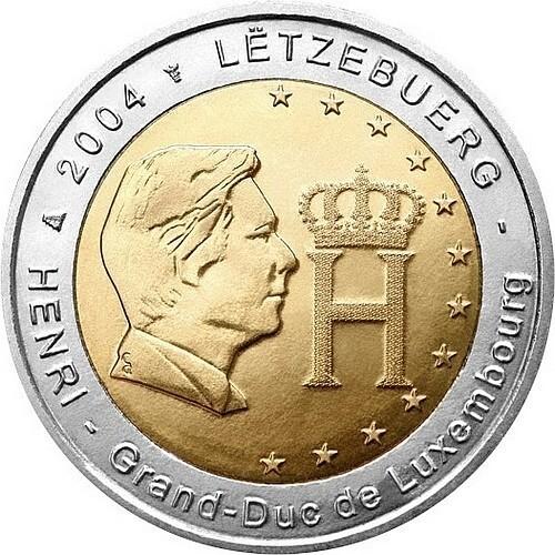 Люксембург 2 евро 2004 года Герцог Люксембурга код 21436