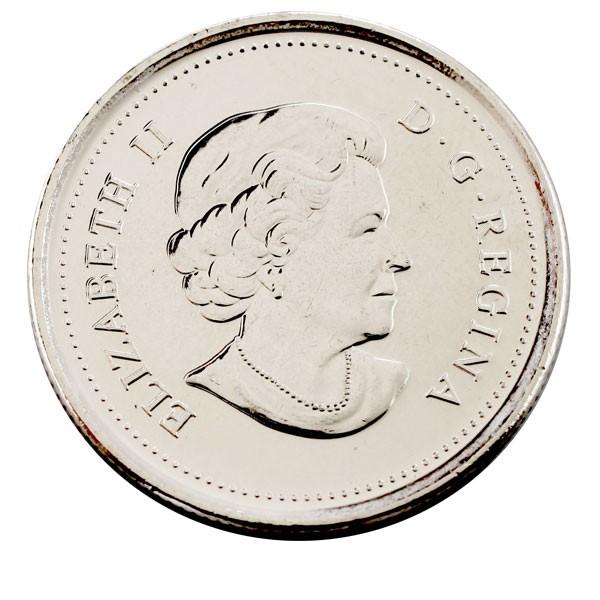 Канада 25 центов 2011 года Лесной бизон код 22310
