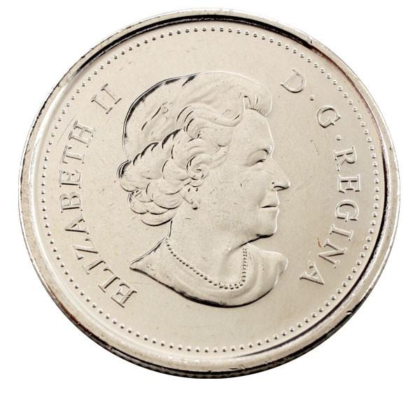 Канада 25 центов 2011 года Сокол сапсан код 22309