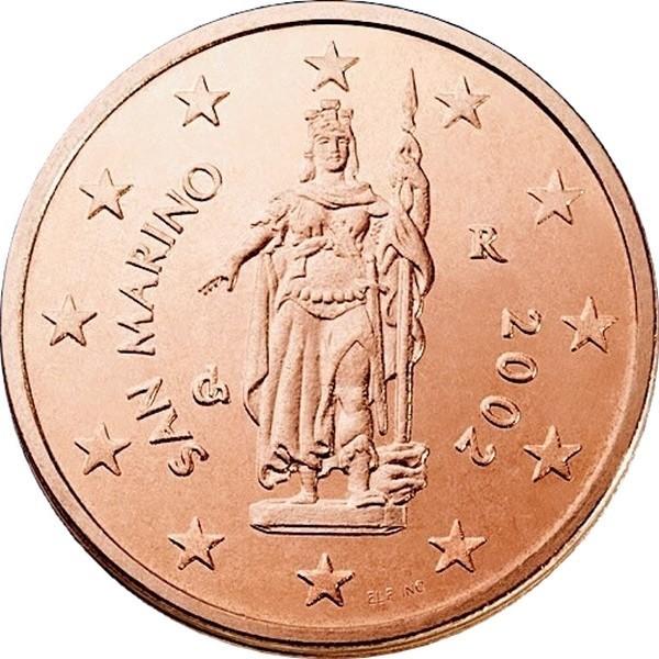 Сан Марино 2 евроцента периода 2002-2016 годов код 21494