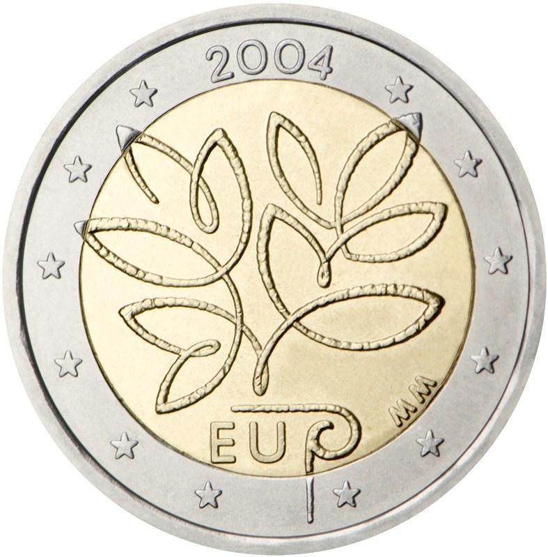Финляндия 2 евро 2004 года Вступление в ЕС 10-ти новых государств код р 111 п 16