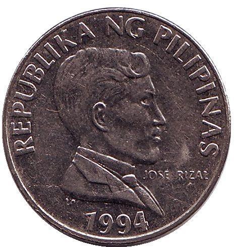 Филиппины 1 песо периода 1991–1994 годов код 21970