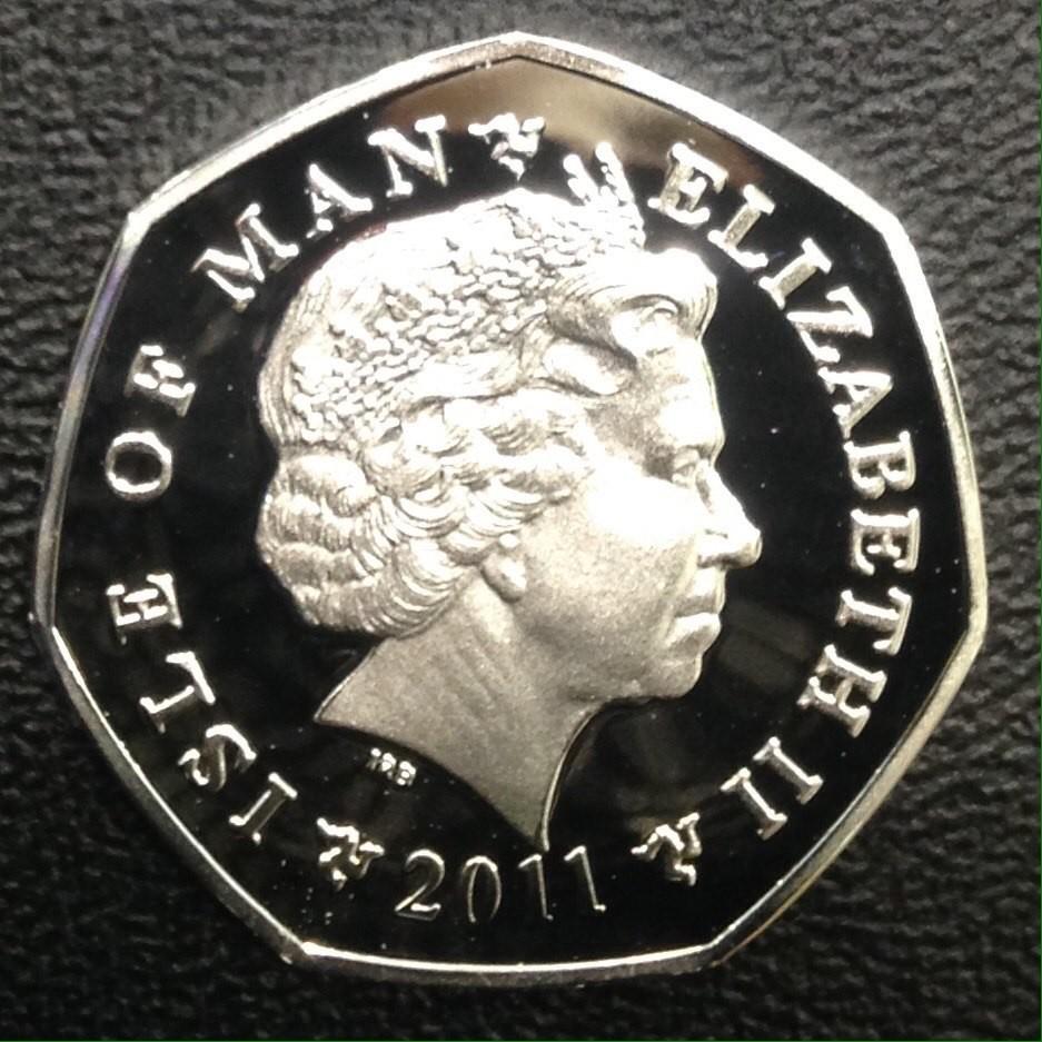 Остров Мэн 50 пенсов 2011 года года Рождество код 54-223