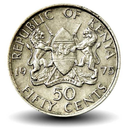 Кения 50 центов периода 1969–1978 годов код 22318