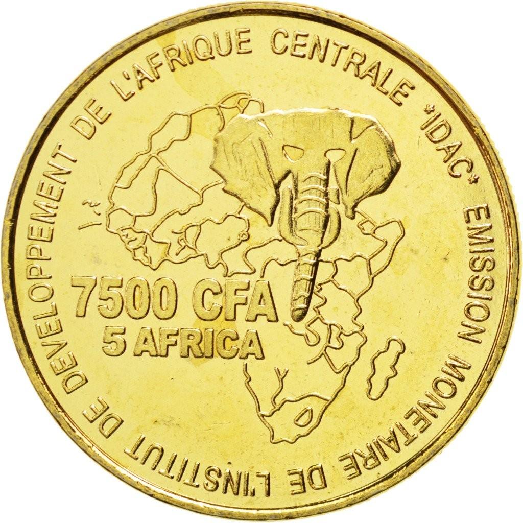Камерун 7500 франков 2006 года Обручальные Кольца код 22321