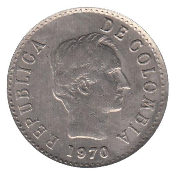 Колумбия 20 сентаво период 1969–1971 годов код 22327