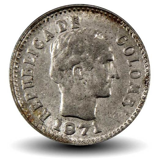 Колумбия 10 сентаво период 1969–1971 годов код 22333