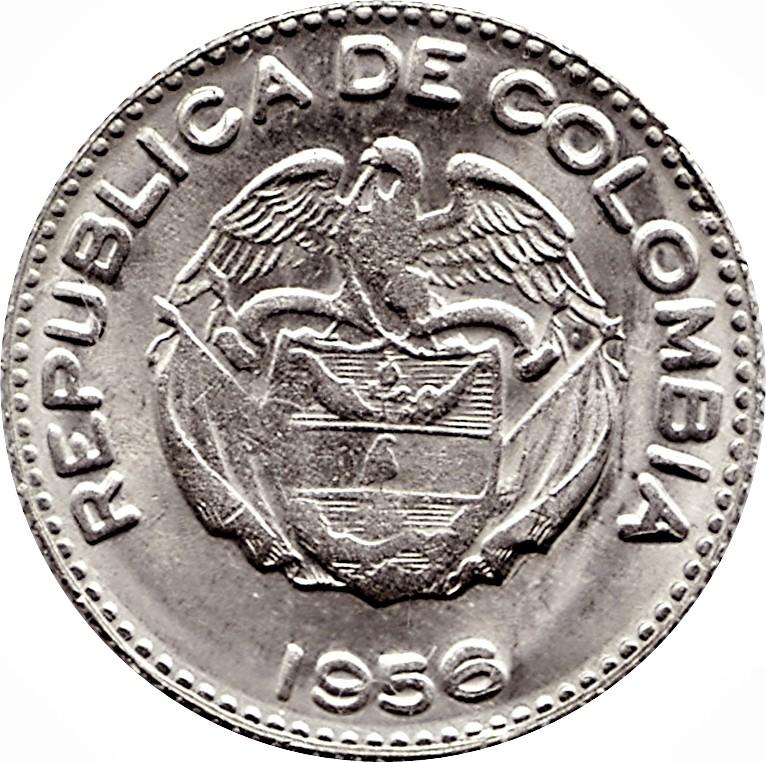 Колумбия 10 сентаво периода 1954–1966  годов код 22338