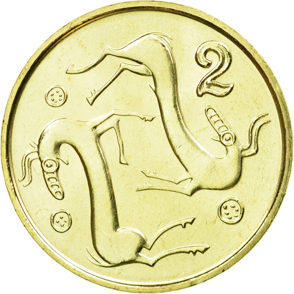 Кипр 2 цента периода 1991–2004 годов код 22340