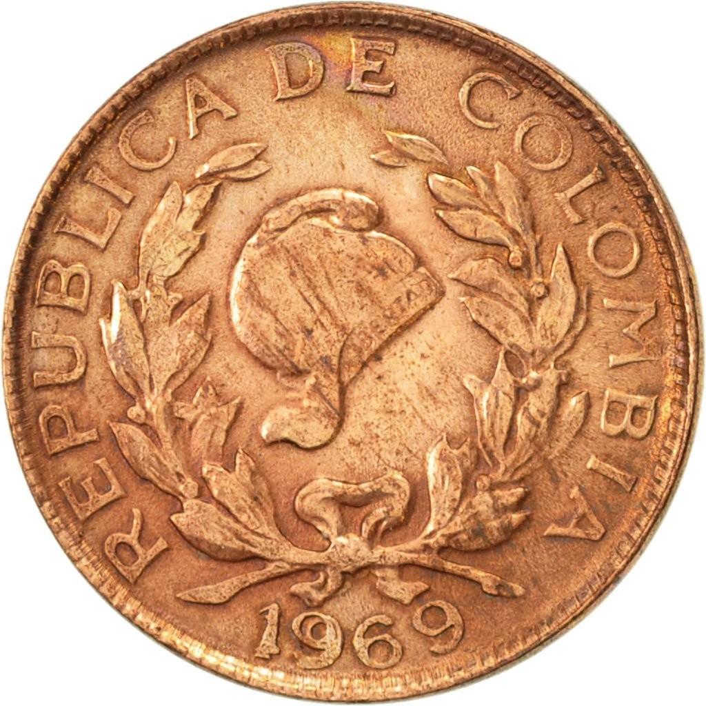 Колумбия 1 сентаво периода 1967–1978 годов код 22345
