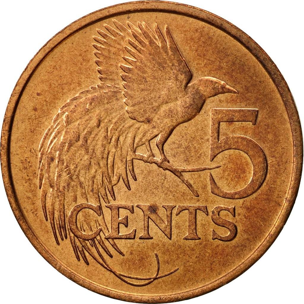 Тринидад и Тобаго 5 центов 1976–2015 годов код 22346