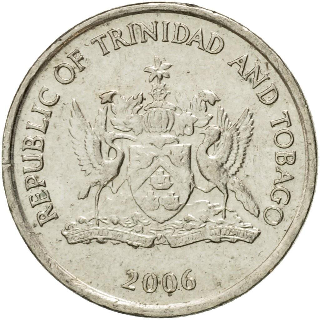 Тринидад и Тобаго 10 центов 1976–2015 годов код 22347