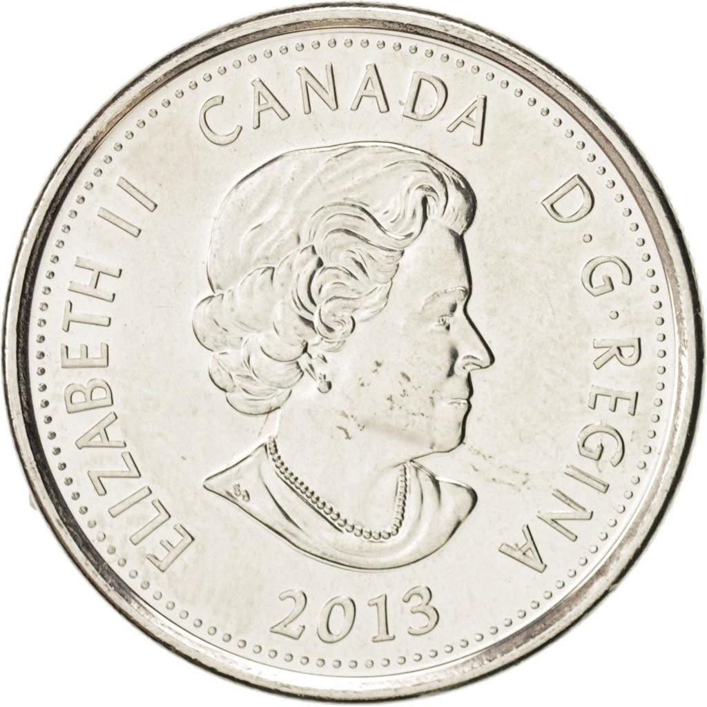 Канада 25 центов 2012 года Война 1812 года код 22351