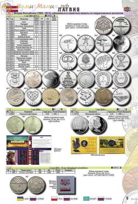 Каталог монеты Прибалтики (до введения евро) Издание №1, 2018 года
