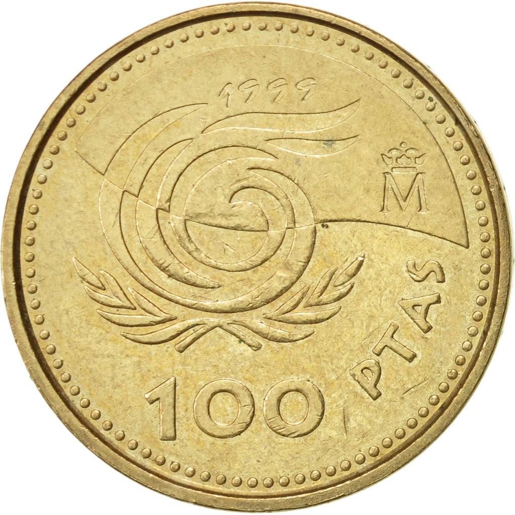 Испания 100 песет 1999 года код 22462