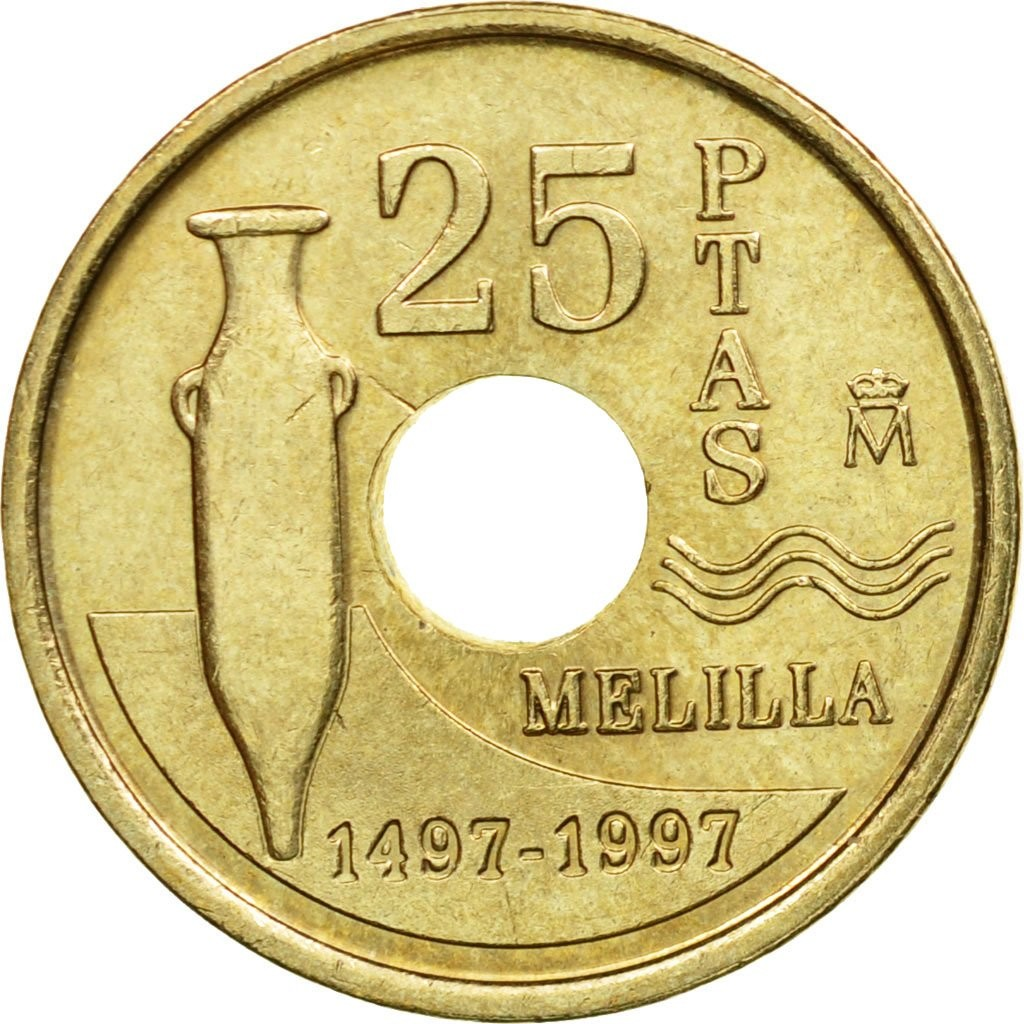 Испания 25 песет 1997 года код 22464
