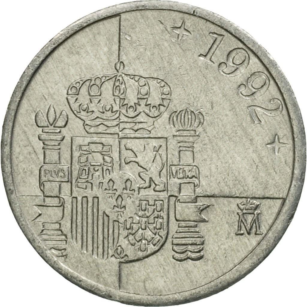 Испания 1 песета 1989–2001 годов код 22466