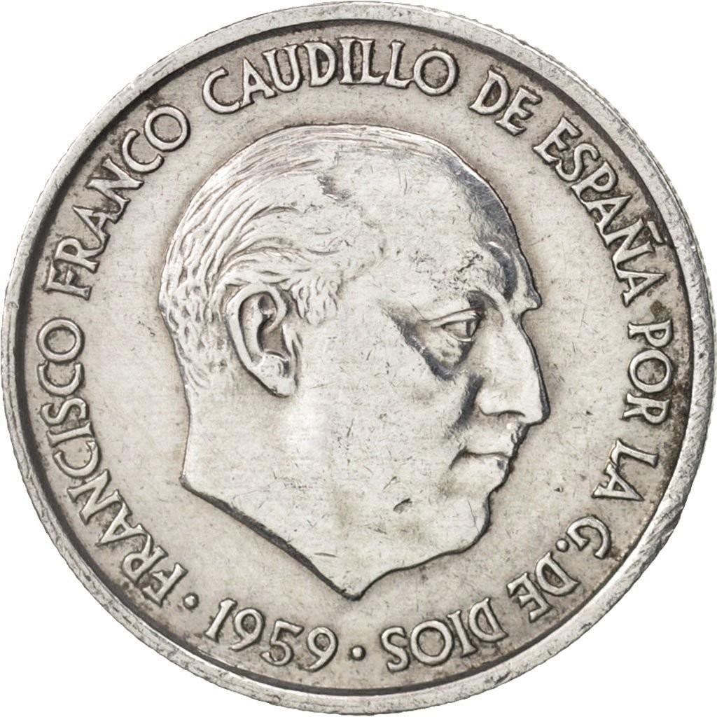 Испания 10 сентимо 1959 года код 22468