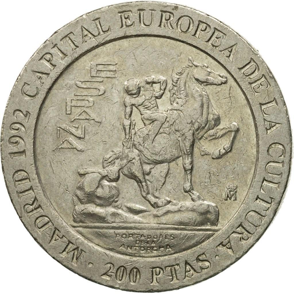 Испания 200 песет 1992 года код 22469